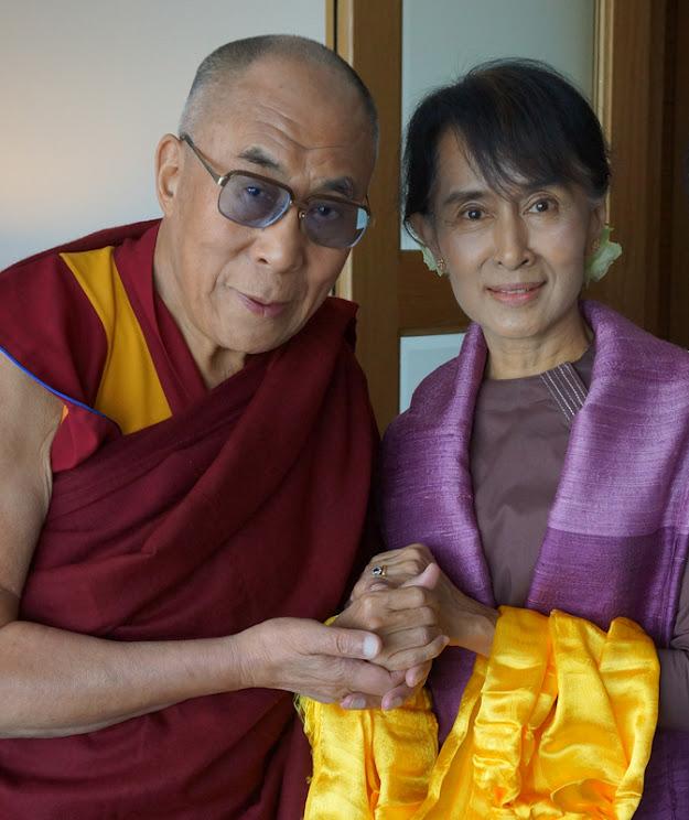 Dalai Lama and Aung San Suu Kyi