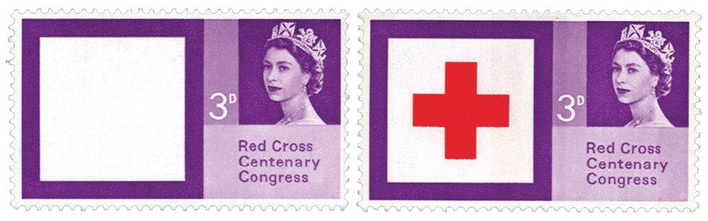 1963 North-East Stampex Red Cross Omitted Stamp